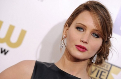 Jennifer Lawrence Brown Eyes Pink Lips Critics Choice Awards