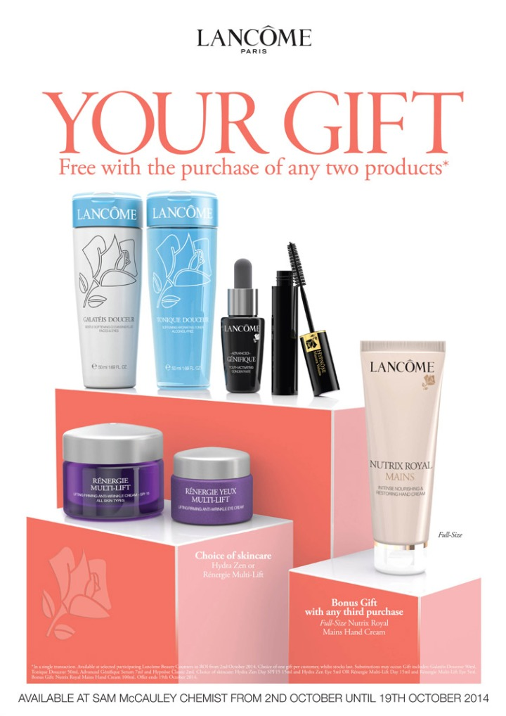 Poster for Lancome Autumn Gift Time