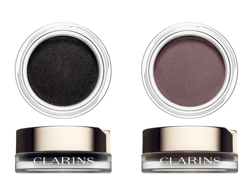 Clarins Ombre Matte Eyeshadow in Carbon and Heather