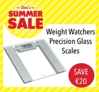 Sam McCauleys Summer Sale Save €20 on Weight Watchers Precisions Glass Scales