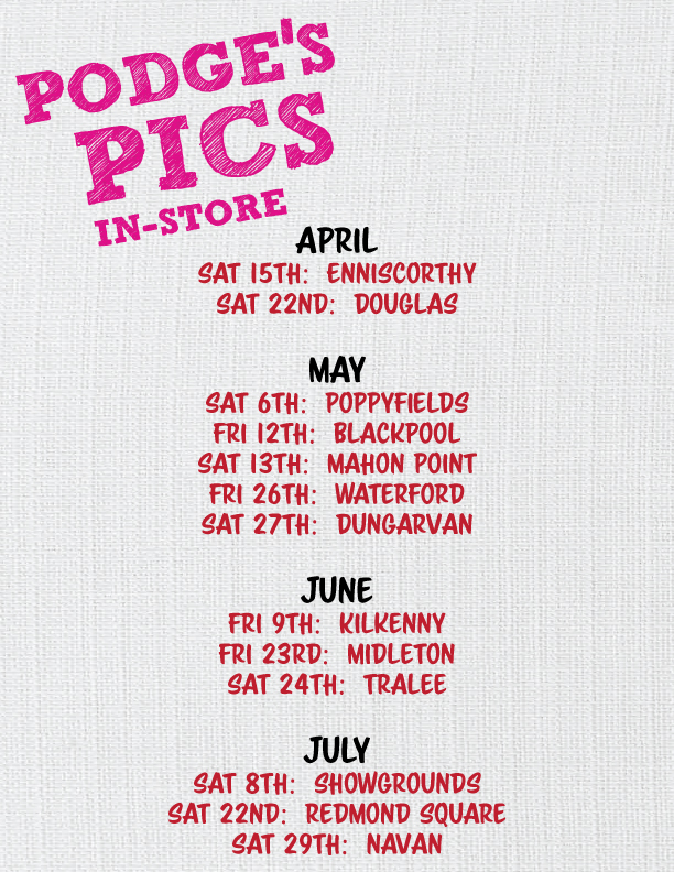 Calendar of available dates with photographer Podge Kelly at Sam McCauleys