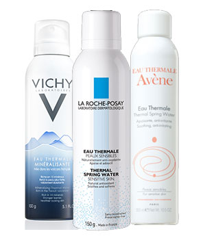 Thermal Spring Water Sprays from Vichy La Roche Posay and Avene