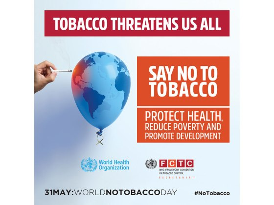 Image WHO World No Tobacco Day