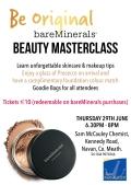 bareMinerals Beauty Masterclass Sam McCauleys Navan