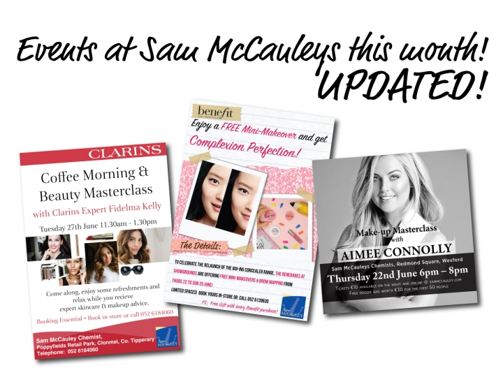In-store events at Sam McCauleys this June