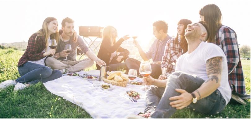 Friends enjoying a Summer picnic