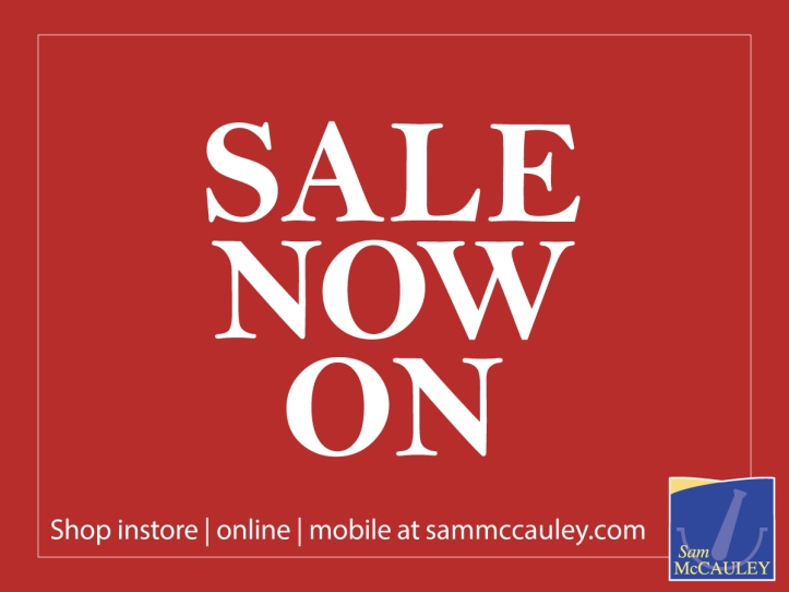 Sam McCauley Chemist Summer Sale