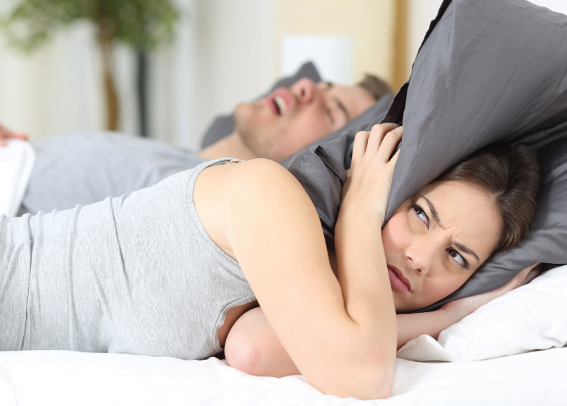 Snoring Keeping Woman Awake