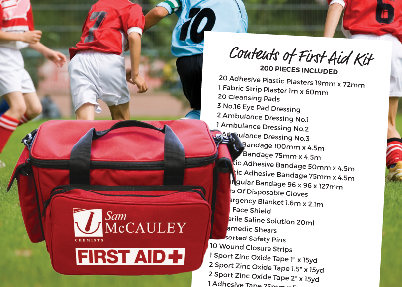 Sam McCauley First Aid Kit Contents