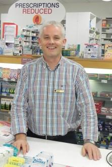 Sam McCauley Pharmacist Robert Booth