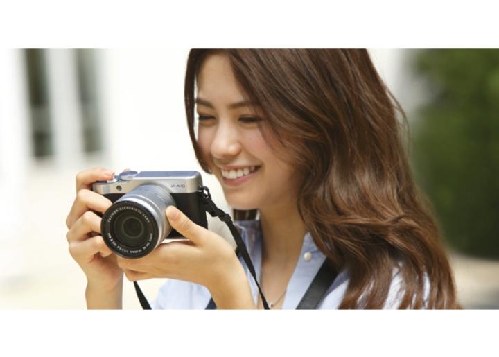 Woman with Fujiflm XA10 Camera