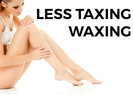 Image of woman leg wax